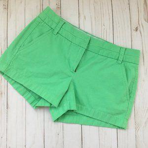 J.CREW Chino Black Label Green Shorts SZ 0